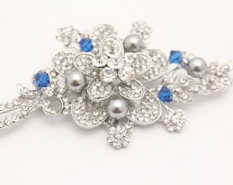 This listing is ready for cat3510  Crystal wedding brooch,pearl bridaloch,wedding hair comb,bridal comb