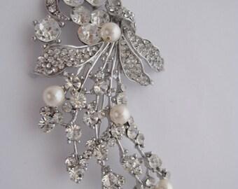 Clear Crystal Rhinestone Brooch Bridal Wedding Brooch Pin Wedding Bouquet Brooch Bridesmaid Favor Wedding Supply Ornament Wedding Decoration