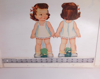Pat the Stand-up Doll Lowe 1042 1946   On Clearance -vintage paper doll set