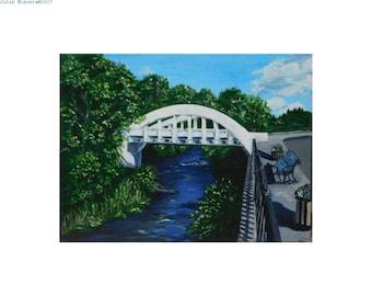 Rainbow Bridge - print of original painting by Julie Miscera c2017