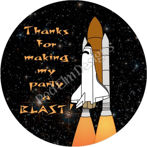 "Space Shuttle Stickers - Sheet of 20 - 2"" round. Space ..."