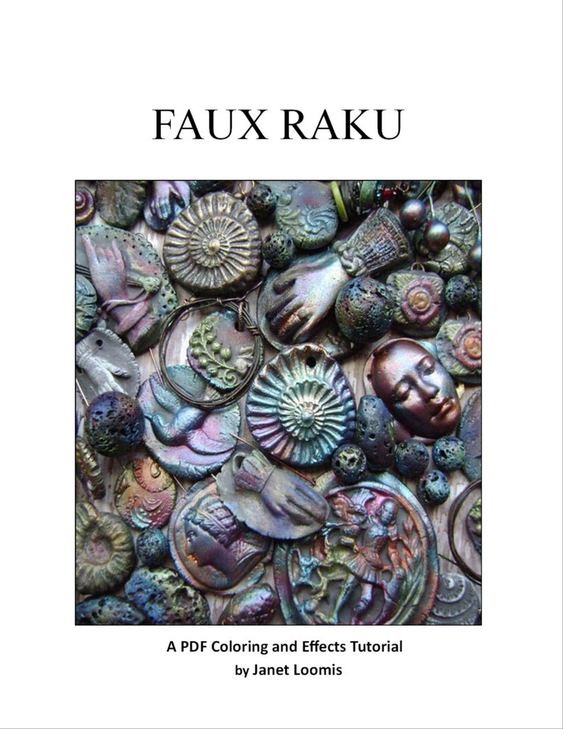 Faux Raku a PDF Coloring and Effects Tutorial by Janet Loomis image 0