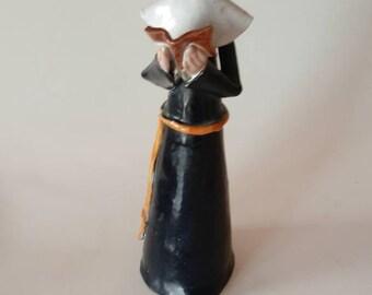 Vintage Italian Pottery Nun Religious