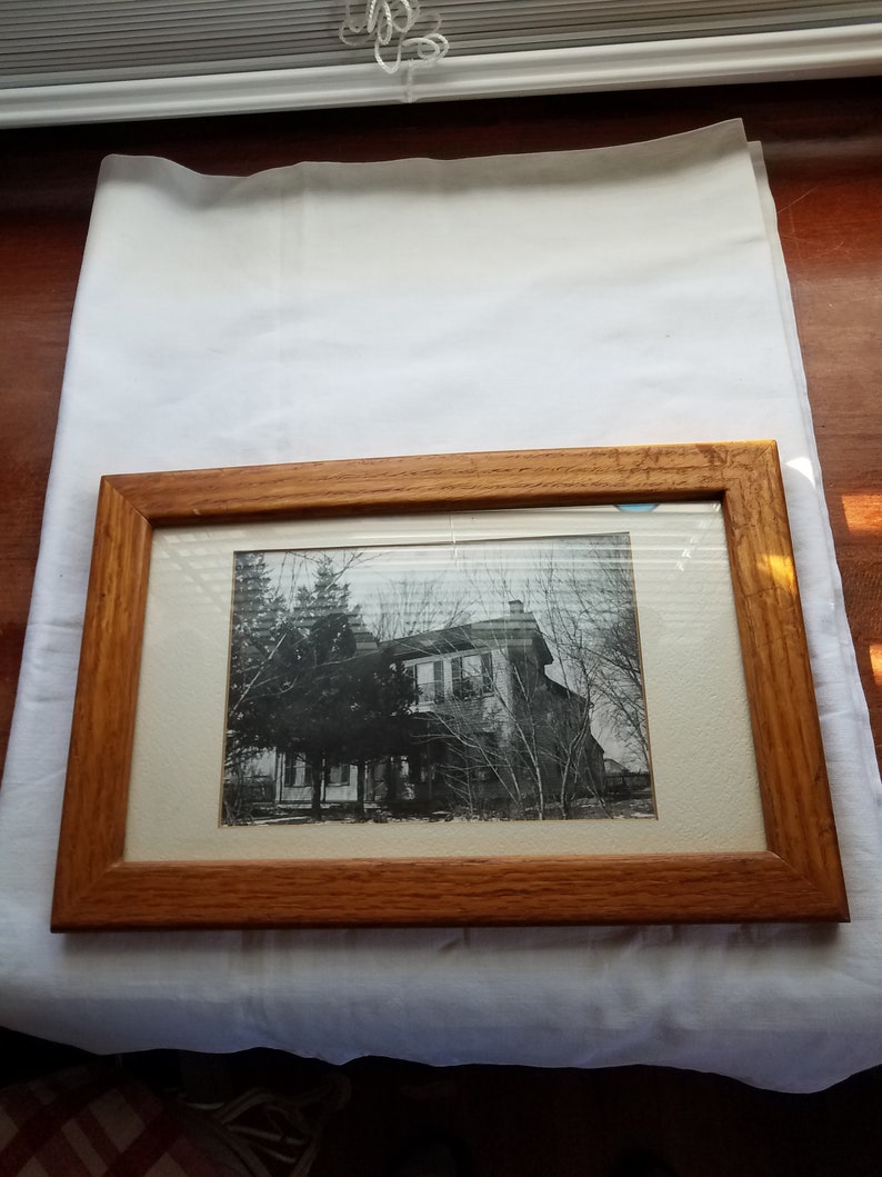 Fantastic Vintage Picture Old House Wood Frame Wall Hanging Wall Decor Mid Century Wall Frame Download Free Architecture Designs Embacsunscenecom