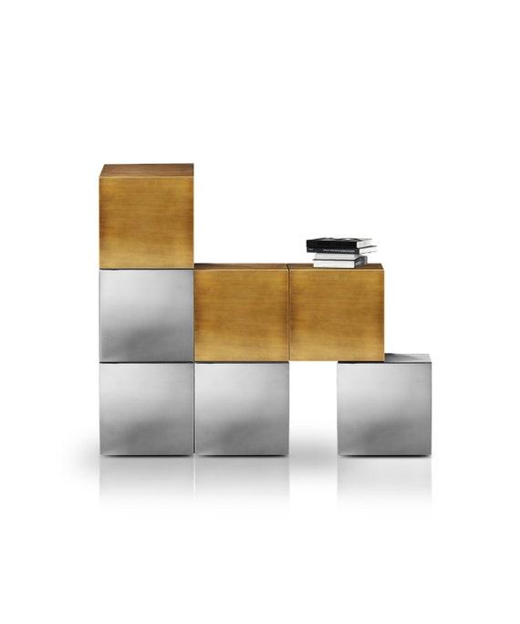 Sideboard Cucu Luxury Handmade Furniture Brushed Brass Etsy