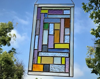 Multicolored Stained Glass Window Panel