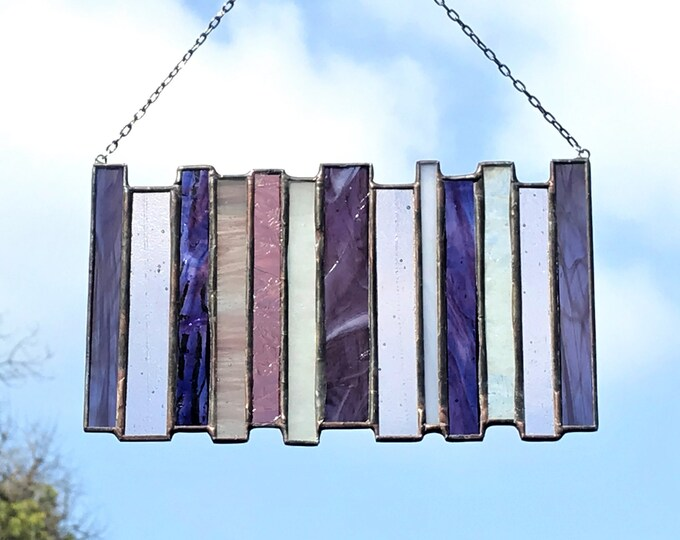 Stacked Stripe • Suncatcher • Panel