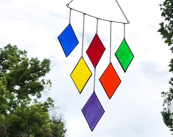 Rainbow Diamonds   • Suncatcher • Wall Hanging • Mobile