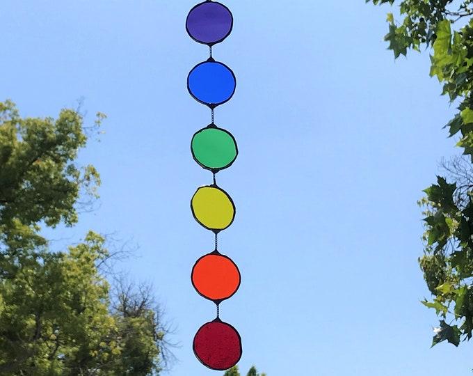 Rainbow Circles  •  Mobile • Suncatcher • Wall Hanging