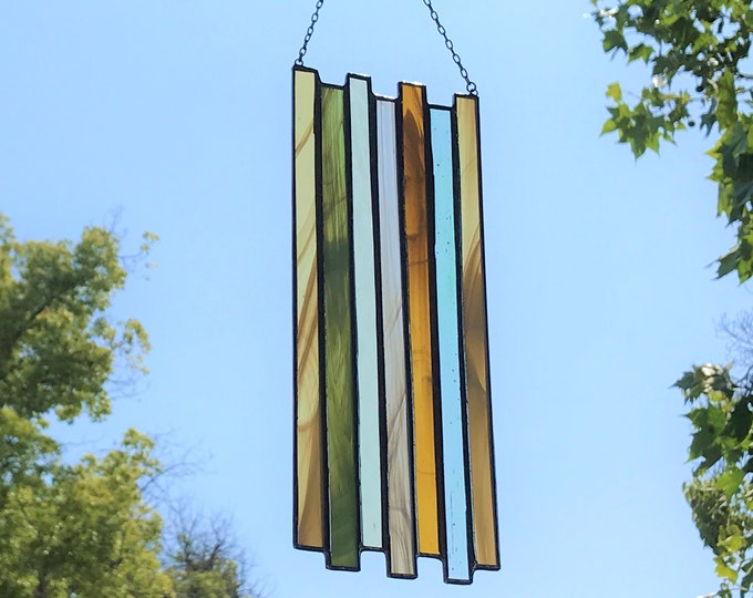Vertical Stained Glass Panel • Suncatcher