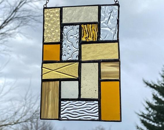 Geometric Squares • Suncatcher • Panel