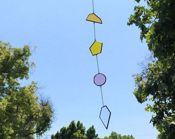 4 piece Geometric  •  Mobile • Suncatcher • Wall Hanging