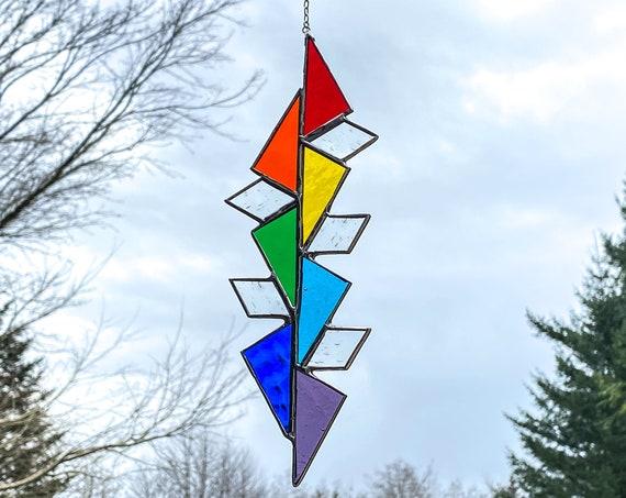 Geometric Chakra Rainbow • Suncatcher