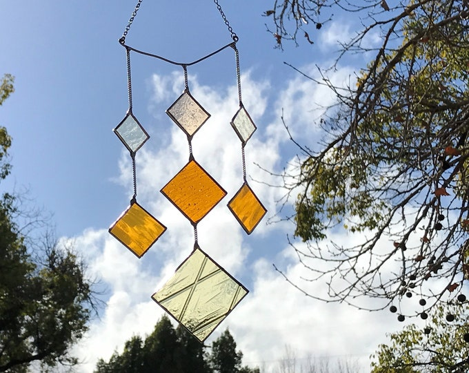 Square Diamond • Mobile • Suncatcher • Wall Hanging