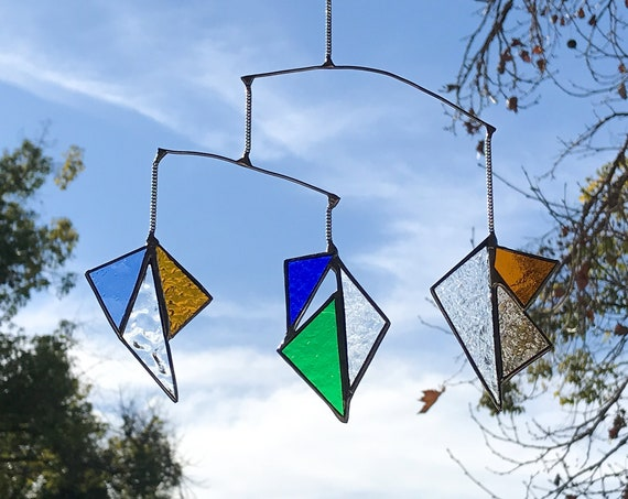 Geometric Triangle • Mobile • Suncatcher