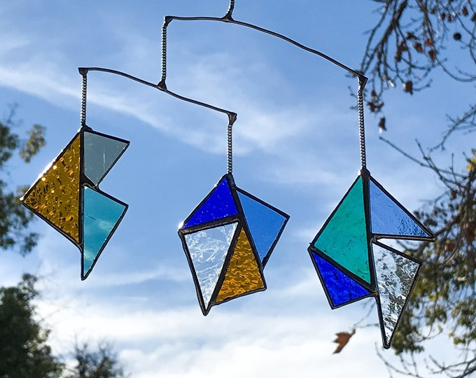 Geometric Triangle • Mobile • Suncatcher