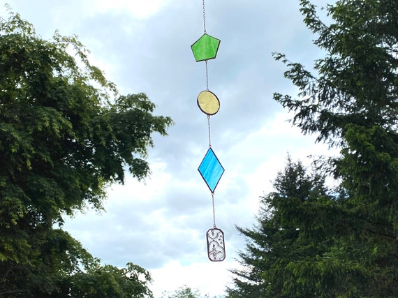 Geometric Shapes • Suncatcher • Wall Hanging