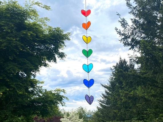 Rainbow Heart String • Suncatcher • Wall Hanging