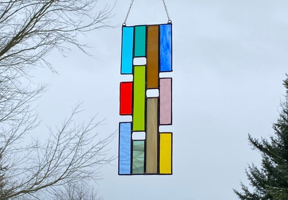 Multicolored Vertical Panel • Suncatcher