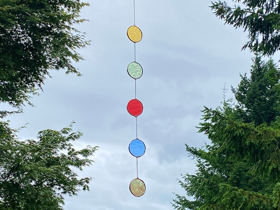 Circle string  • stained glass Suncatcher • Wall Hanging