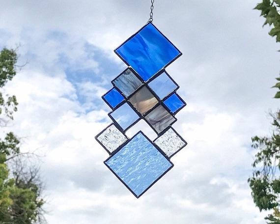 Blue Squares • Suncatcher