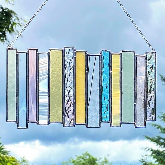 Pastel Hue Stacked Stripe • Suncatcher • Panel