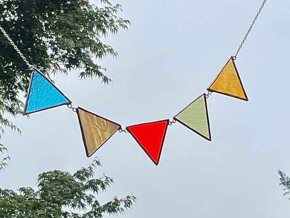 Triangle Flags • Suncatcher • Wall Hanging
