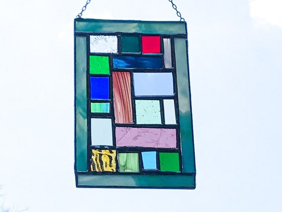 Small Patchwork Panel • Suncatcher