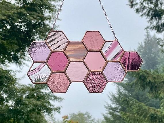 Purple & Mauve Honeycomb Suncatcher