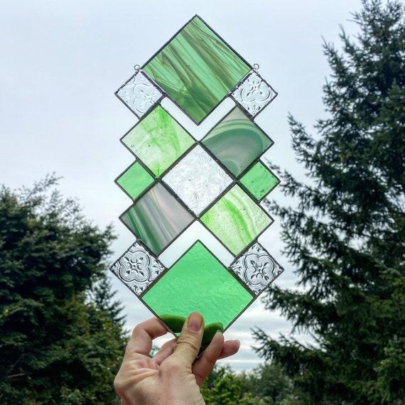 Green Squares • Suncatcher