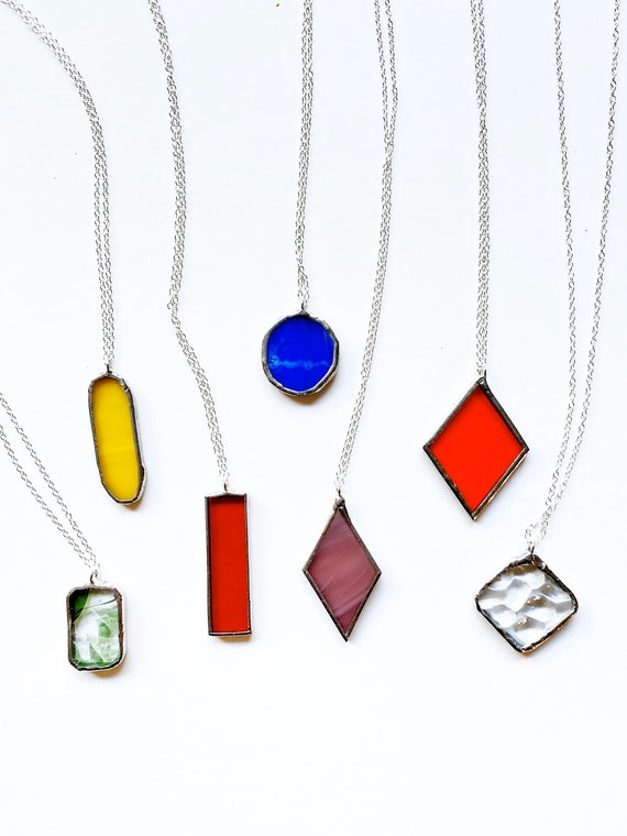 Stained Glass Necklaces - CUSTOM (free shipping)