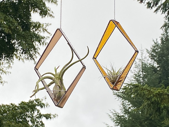 Stained Glass Tapered Diamond Air Plant Holder