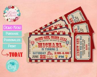 Carnival Ticket Birthday Invitation b693c6e50d