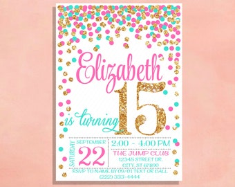 sparkle invitations etsy