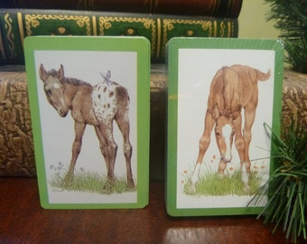 1979 Double Deck Horse Playing Cards By Current Inc.,  Colt Playing Cards, Filly Playing Cards  (T)  MINTY