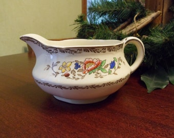 Alfred Meakin Gravy Boat in the Jerome Pattern, Hand Painted   (T)