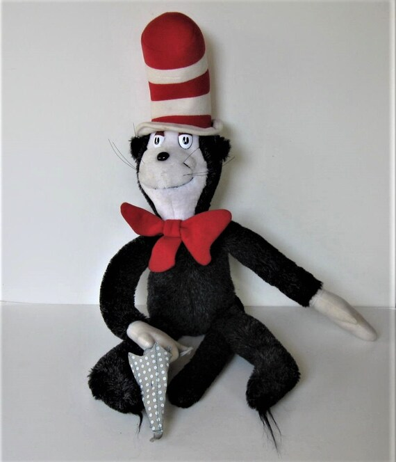 Sale Vintage 1983 Cat In The Hat Doll Dr Seuss Kitty Toy Etsy