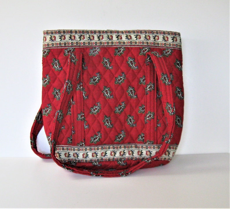 Vintage Vera Bradley Red quilted fabric tote