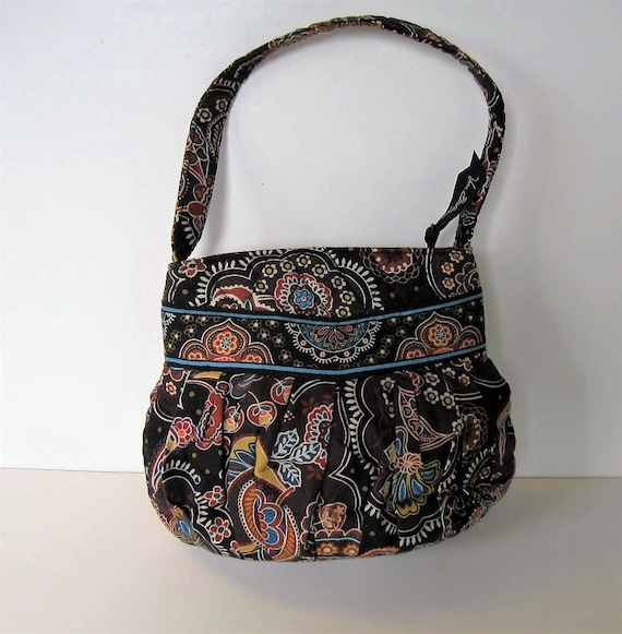b6424f1fa6 Small Vintage Vera Bradley quilted fabric hand bag 9