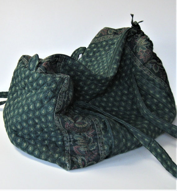 0721083236 XLarge Vera Bradley French Country quilted fabric duffel bag