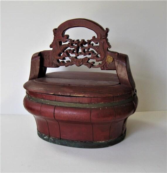 Antique Chinese Wood Storage Box 12 X 8 1/2   Etsy