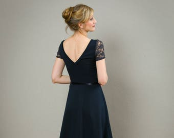 """Elegant Dress """"Tiffany"""", in navyblue"""