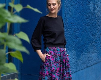 Pleated skirt with pockets - Valerie