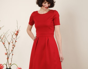 """Dress """"Elisa"""", in red and dark red"""