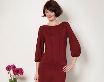 """Dress """"Melody"""", in bordeaux"""
