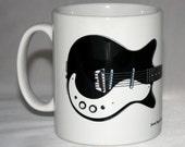 Guitar Mug. Jimmy Page 39 s 1961 Danelectro 3021 illustration.