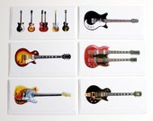 Jimmy Page 39 s Guitars, Pack of 6 Greeting Cards, DL size