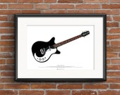 Jimmy Page 39 s Danelectro 3021 guitar ART POSTER A2 size