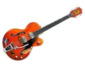 Brian Setzer 39 s 6120 guitar CANVAS PRINT