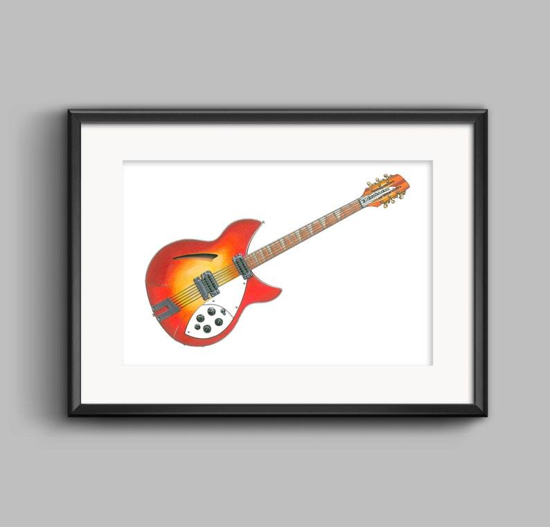George Harrison/'s 1964 Rickenbacker 36012 POSTER PRINT A1 size
